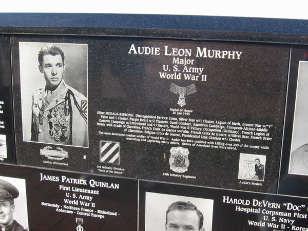 Audie Murphy, one of the most decorated American combat soldiers of World War II.