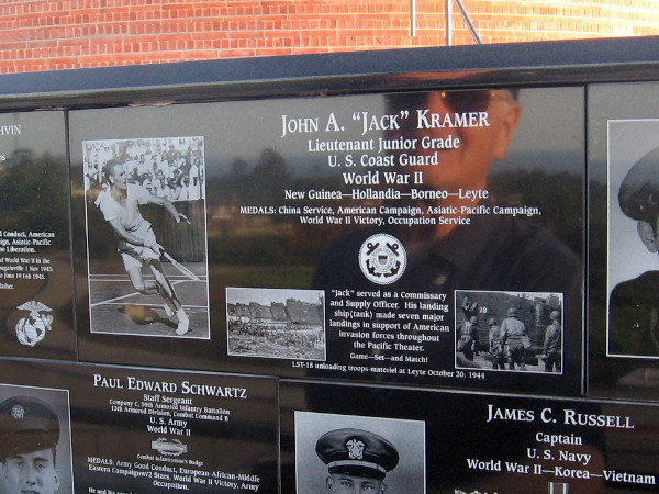 Jack Kramer served in the U.S. Coast Guard during the Second World War. He helped create modern professional tennis.