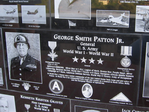 Famed Army General George S. Patton is remembered for his storied service to our country.
