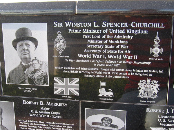 Sir Winston Churchill, who defended Britain from the Nazis, was made an honorary American citizen.
