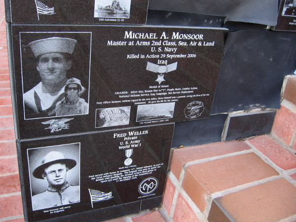 Michael A. Monsoor, a Navy Seal and Medal of Honor recipient who sacrificed his own life to save his comrades in Iraq.