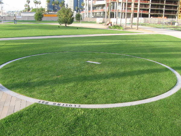 A small part of the park resembles a baseball diamond with flat pitcher's mound.