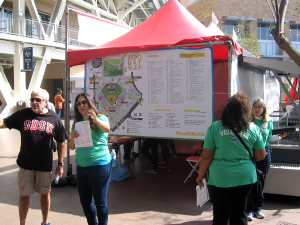 Exhibitor map for Expo Day, main event of the San Diego Festival for Science and Engineering.