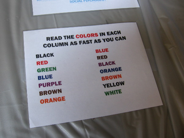 Test your own confused mental cognition and speak these colors really fast for yourself!