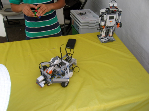 Awesome robots were all over the place!