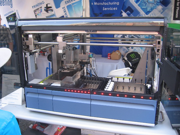 This automated machine helps prepare lab samples in medical facilities.