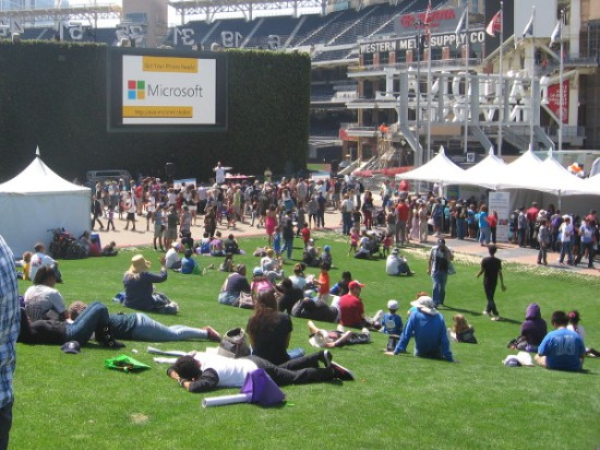 Petco's sunny Park at the Park was jammed with families enthused by education.