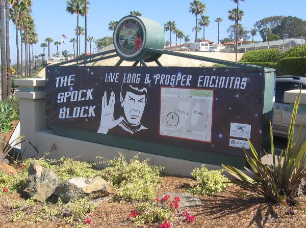 The Spock Block celebration centered upon Encinitas City Hall on Vulcan Avenue.
