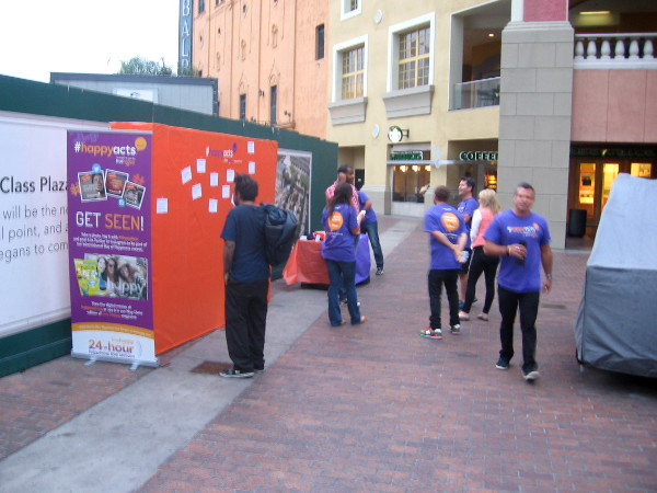 International Day of Happiness in San Diego at Horton Plaza.