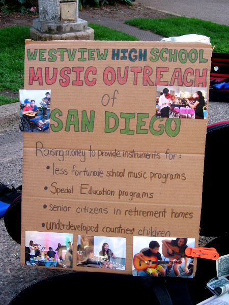 Westview High School Music Outreach of San Diego has important goals! Their mission is to enrich others through music. Can you help them succeed?