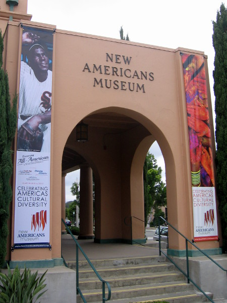 The New Americans Museum is located at the beautifully redeveloped old Naval Training Center in Point Loma.