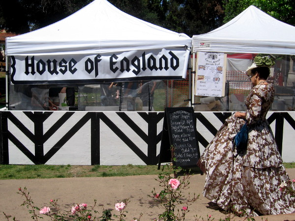 House of England tent featured British food in San Diego, a distant corner of America.