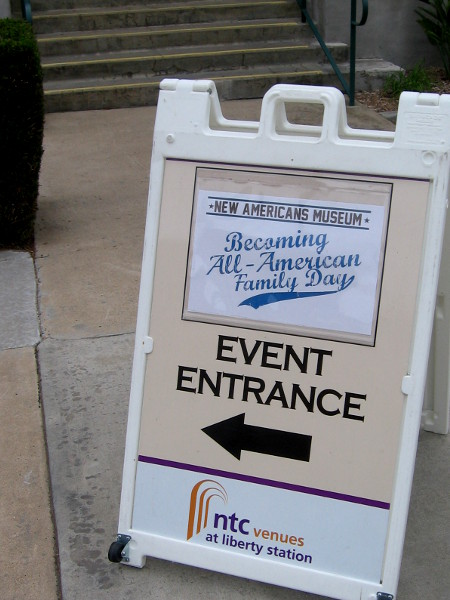 Becoming All-American Family Day was held to celebrate a fascinating new exhibit.