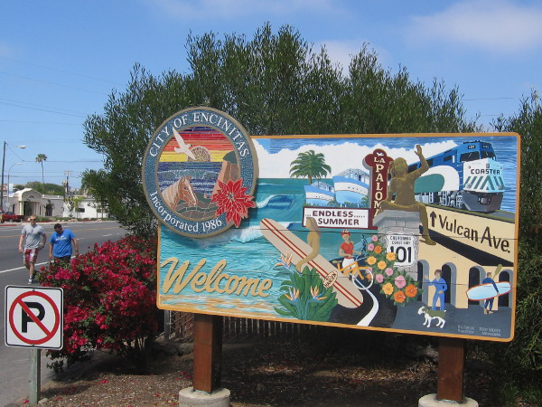 Welcome to the City of Encinitas, home of sun, surf, cool sights, and an endless summer.