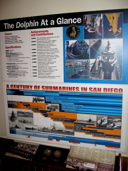 Second display contains info about the sub's design and it's numerous historic achievements.