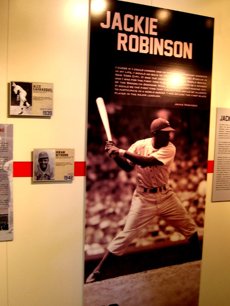 Cool displays in a unique immigrant-themed museum showcase diverse players through the history of professional American baseball.