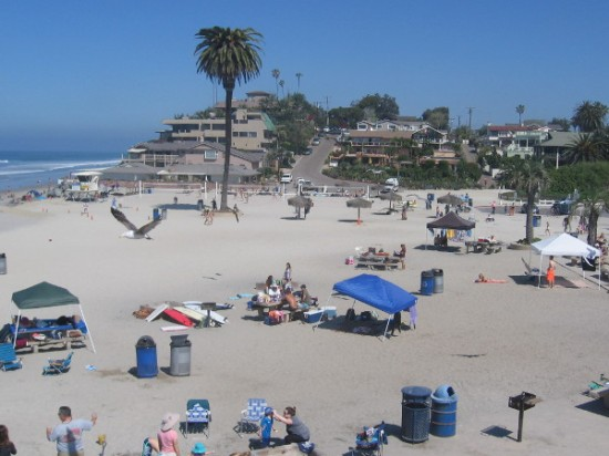 Just another perfect day at Moonlight Beach in Encinitas, California.