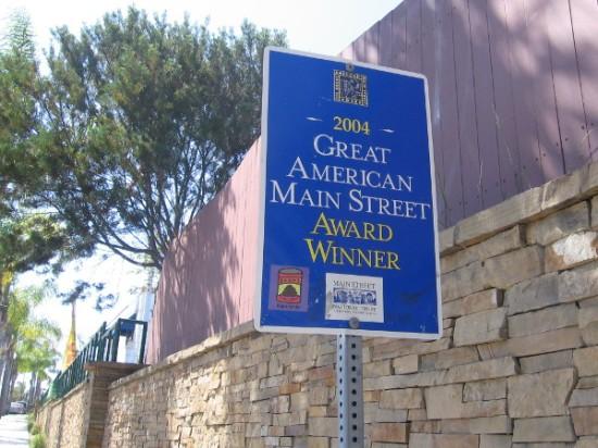 Pacific Coast Highway through Encinitas won Great American Main Street award in 2004.