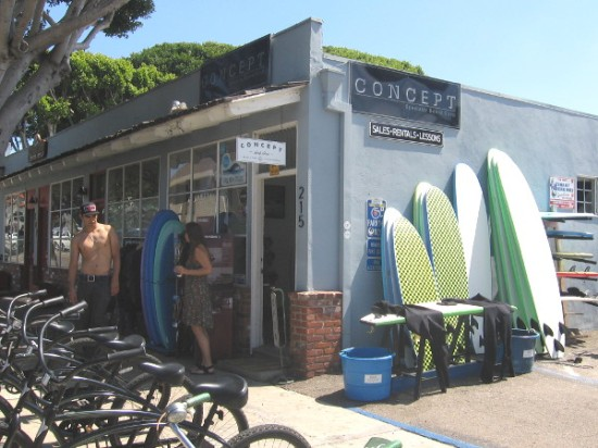 Bikes and surfboards are abundant in sunny Encinitas.