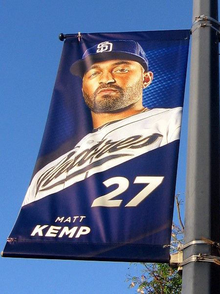 2015 Padres Player Banners Near Petco Park Cool San Diego Sights