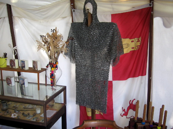 A small museum and gift shop includes many interesting sights, including a shirt of chainmail and flag of the Spanish Empire.