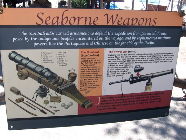 The San Salvador carried armament to defend the expedition from potential threats. The cannon-like bombard and swivel gun could be fired from the deck.