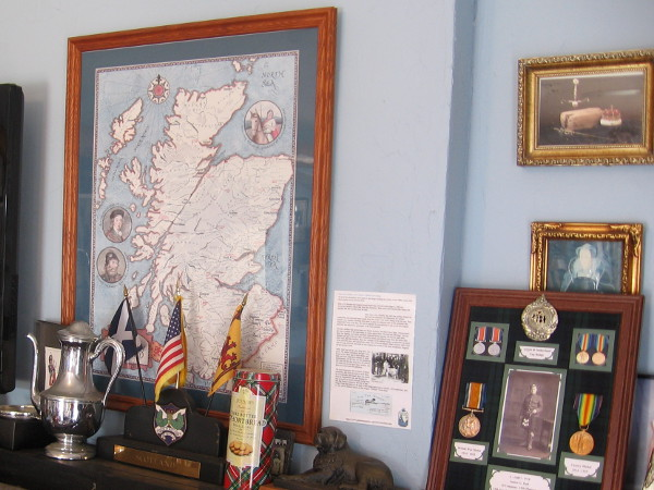Displays in Scotland's small cottage celebrate rich history, art and culture.