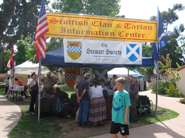 The Scottish Clan and Tartan Information Center drew a great deal of interest.