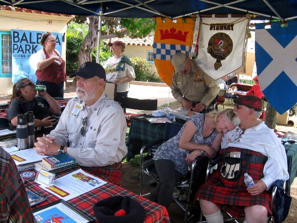 Participants from The Stewart Society of Edinburgh brought to life Scotland's rich heritage.