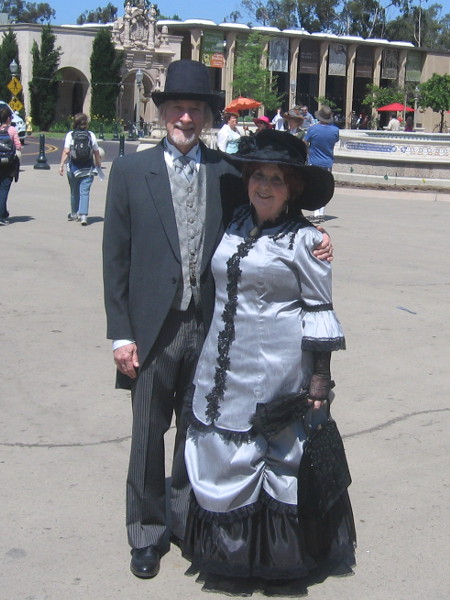 This 19th century fashion predates 1915, the year of the Panama-California Exposition in Balboa Park,