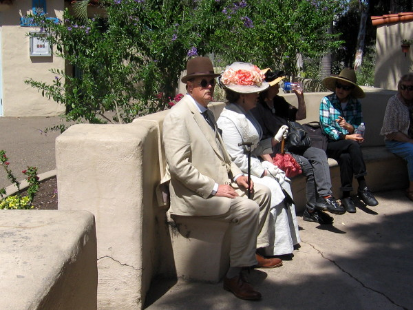 Visitors from Balboa Park's past seem to come to life before my very eyes.