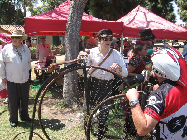 Many penny-farthing bicycles could be spied around Balboa Park today.