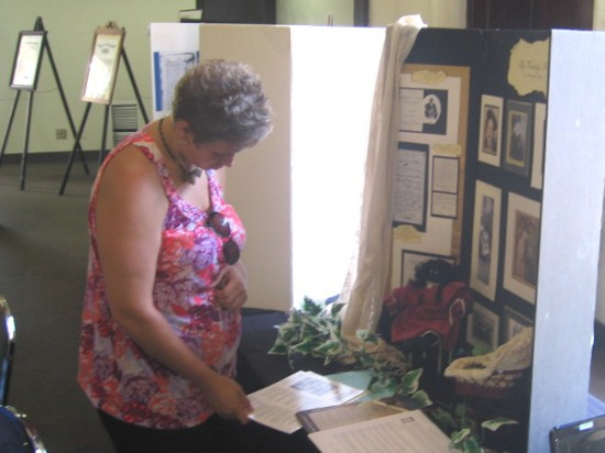 A cool exhibit by an African American lady shows her rich family history.