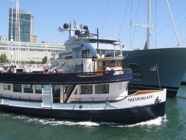 A favorite little ship, the Silvergate sets out across San Diego Bay for Coronado.