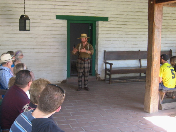 Friendly volunteer tour guide sums up San Diego's early history at end of a fascinating one hour tour.