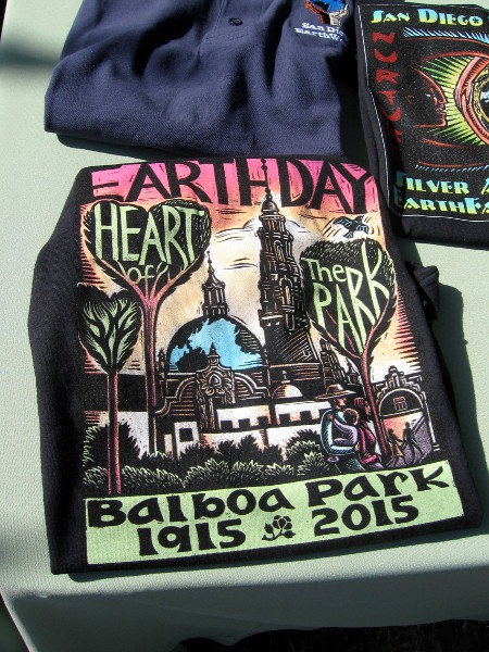 Cool graphic on EarthFair shirt. Balboa Park attracted a huge crowd as usual!