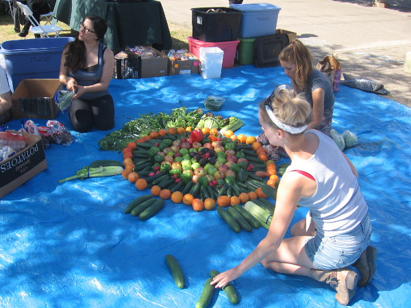 Creating art out of perfectly good food saved from dumpsters. I blogged about these guys last year!