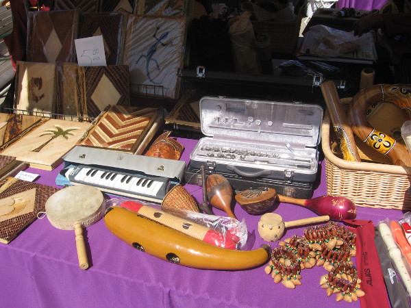 Lots of hand-crafted musical instruments were for sale.