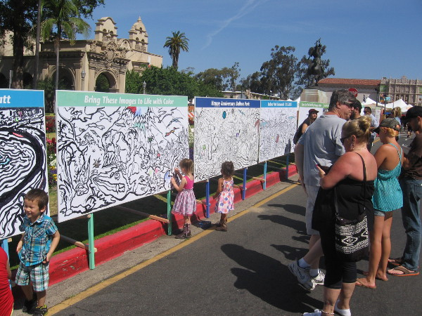 Creative kids (or adults) could color these huge panels however they pleased!