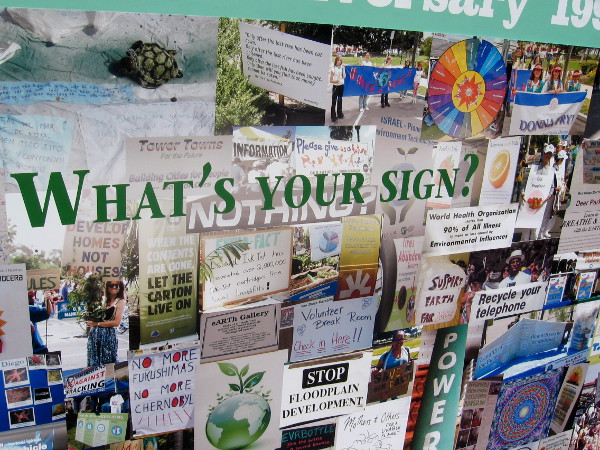 What's your sign. This panel showed activist signs photographed during 25 years of EarthFair.