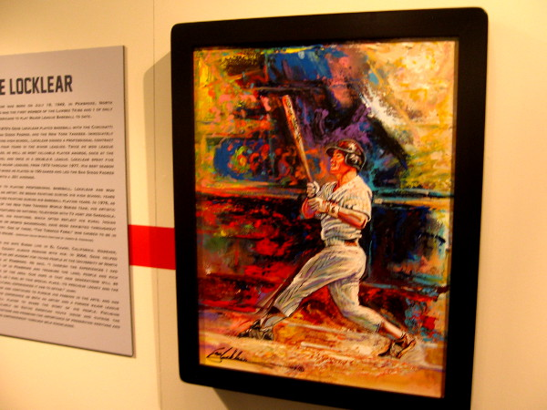 Colorful painting of Gene Locklear, Native American of Lumbee Tribe of North Carolina. He played for several teams, including the San Diego Padres.