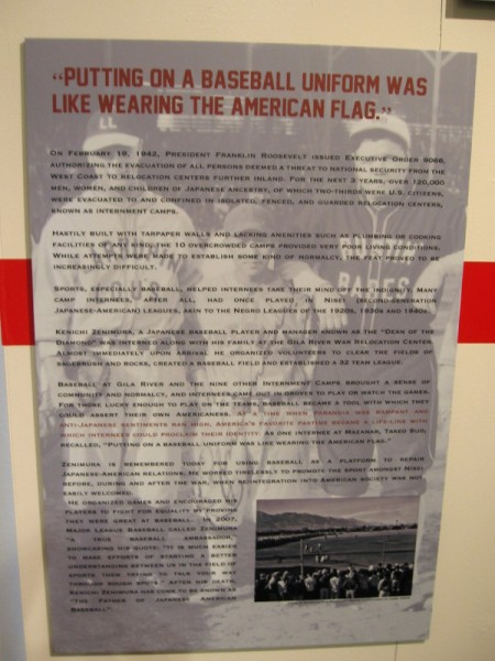Putting on a baseball uniform was like wearing the American flag. Japanese baseball player and manager Kenichi Zenimura, placed in internment camp during WWII, organized a league.