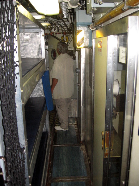 Those crew bunks on the left don't look terribly spacious or comfortable.