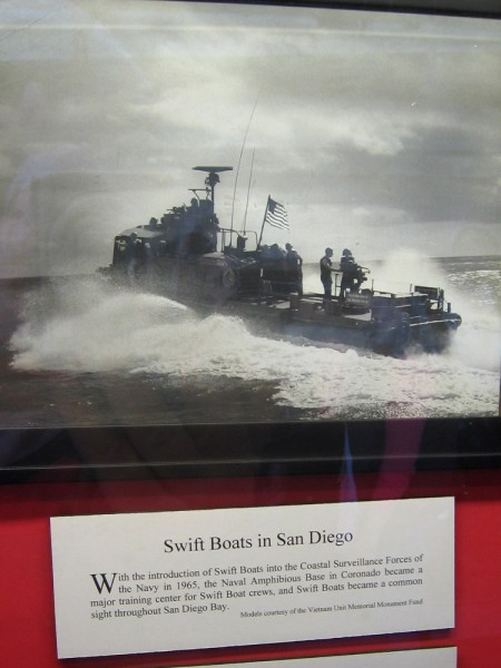 With the introduction of Swift Boats into the Coastal Surveillance Forces of the Navy in 1965, the Naval Amphibious Base in Coronado became a major training center for Swift Boat crews.