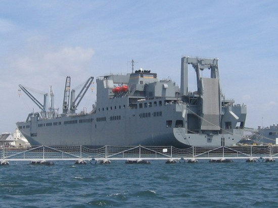 USNS Bob Hope is another huge ship! She's a vehicle cargo ship used for Army vehicle prepositioning, She's the only Navy vessel to be named after entertainer Bob Hope.