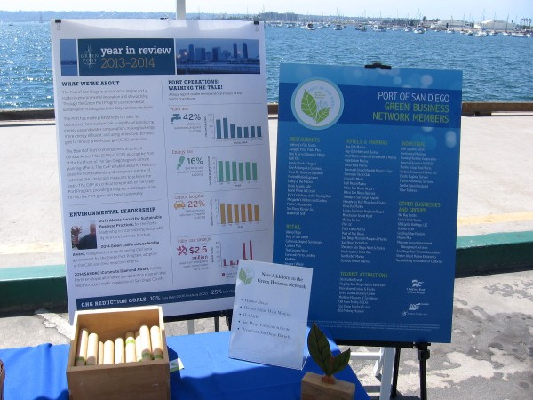 The various Earth Day exhibitors on the waterfront included the Port of San Diego, with a report on their conservation and other green projects.