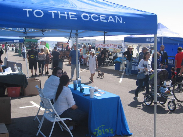 The first annual Earth Day on the Bay attracted a modest crowd, but it's a good start!