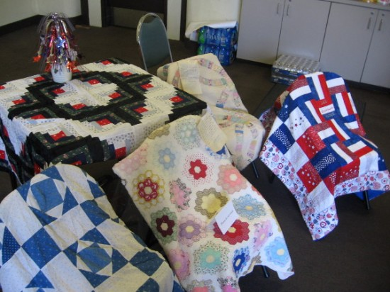 Some beautiful quilts were out for visitors to admire.