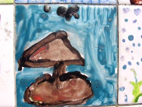 Kid artists contributed to many tile benches along San Diego's waterfront.