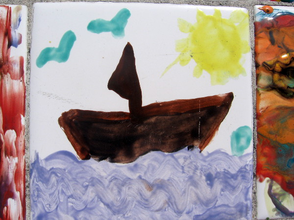 Many students chose to paint sailboats out on the Pacific Ocean.